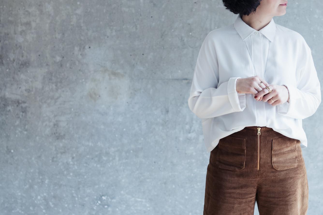 Tipps für's Nähen mit Cord - Schnittmuster Hose Lola und Bluse Cocoon - Schnittduett