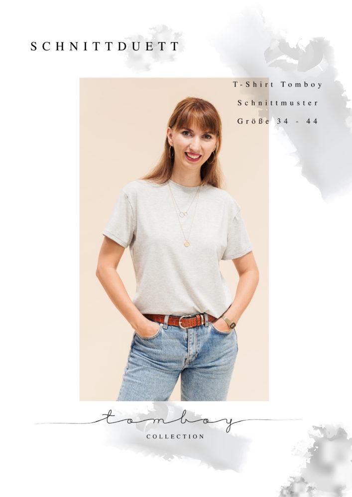 Schnittmuster T-Shirt mit Rundhals nähen - Schnittduett