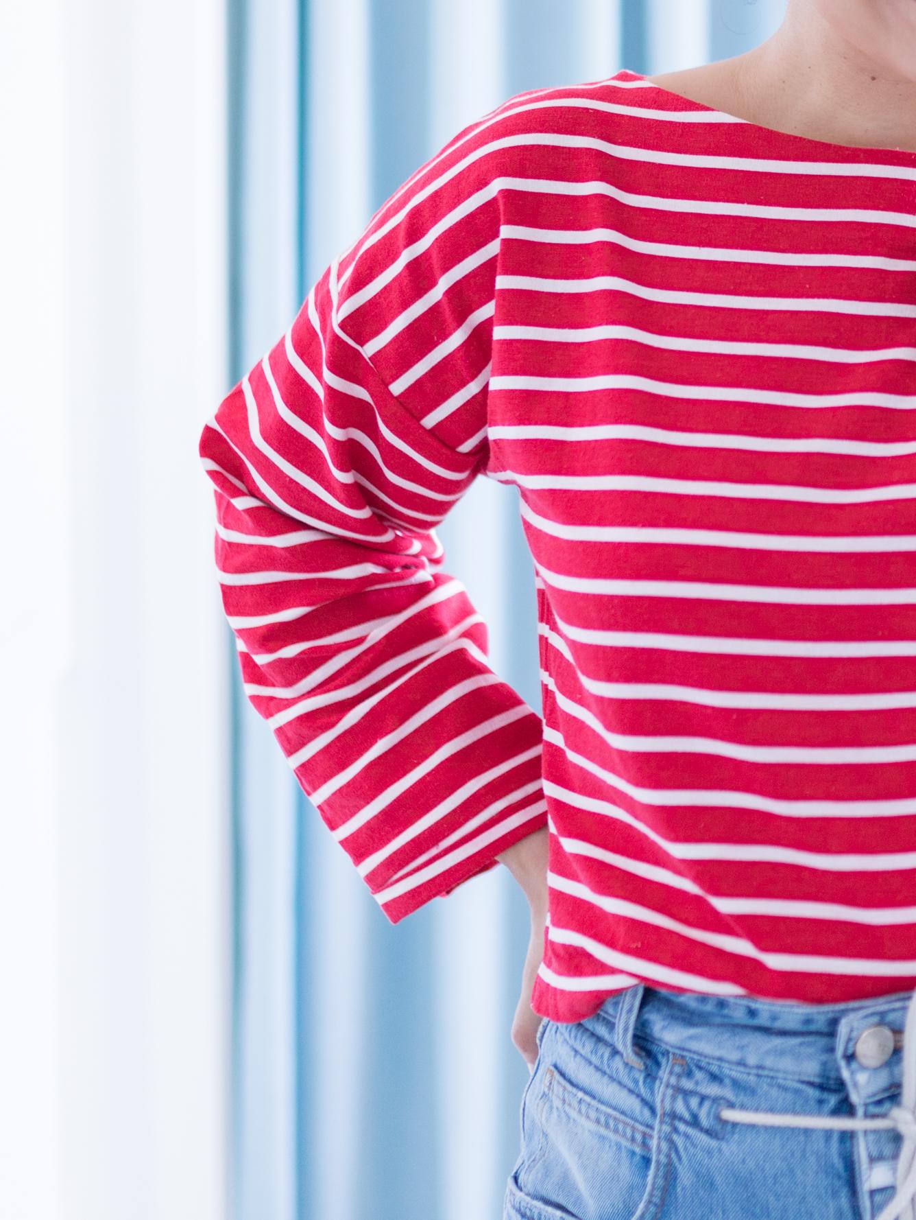 Schnittmuster Blusenshirt Bloom mit langen Ärmeln nähen - Schnittduett