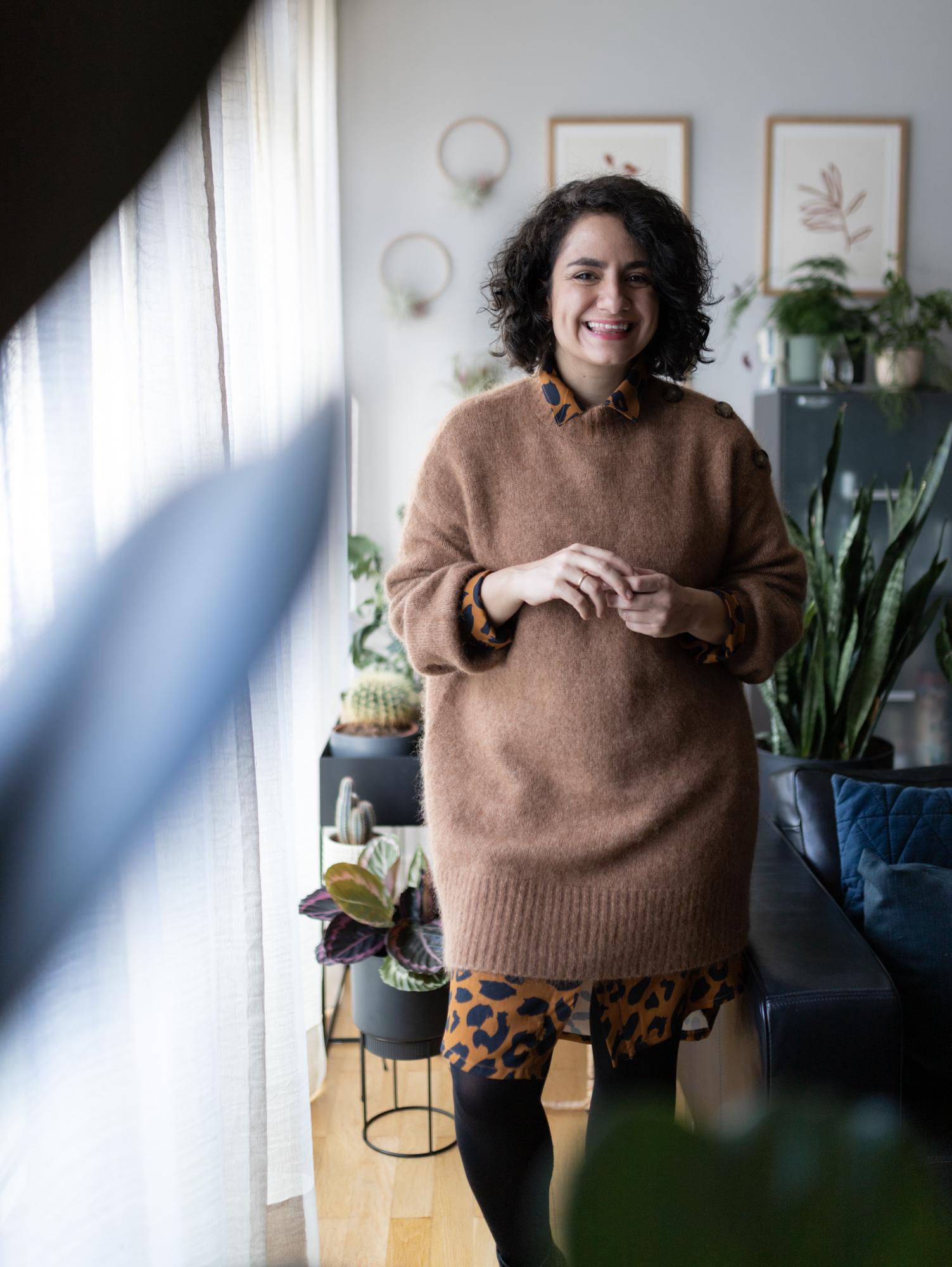 Ein Blusenkleid - vier Looks: Schnittmuster Blusenkleid Cocoon mit Leoprint stylen - Oversize Kleid nähen - Schnittduett Schnittmuster