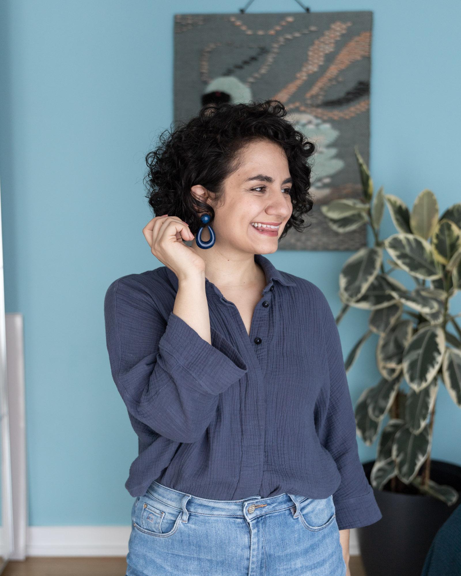Cocoon Bluse aus Musselin nähen: Tipps damit das Nähen gut gelingt - Tweed & Greet